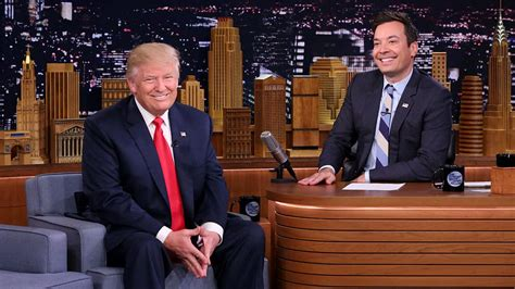 fallon trump jimmy donald tv favors appearance host done donating refugee charity hits tweet