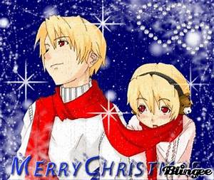 Merry Christmas Anime Couple Picture #111582076 | Blingee.com