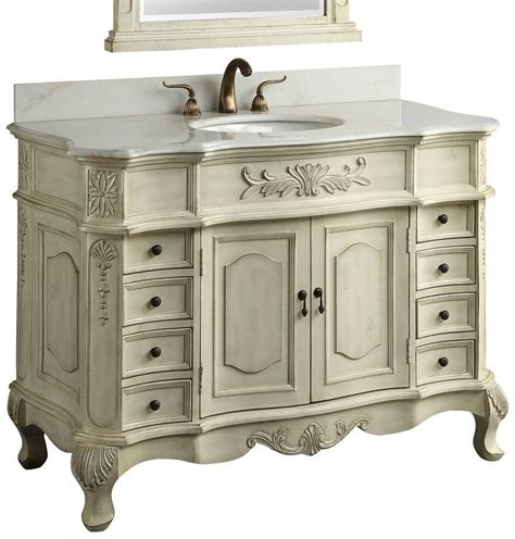 42 inch bathroom vanity antique white traditional