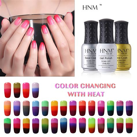hnm temperature 3 color changing gel nail 8ml mood