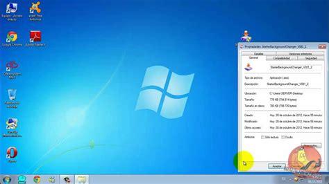 cambiar fondo de pantalla windows  starter youtube
