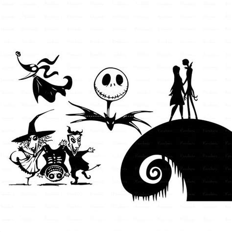 Silhouette Nightmare Before Christmas Svg Free – 68+ File Include SVG PNG EPS DXF