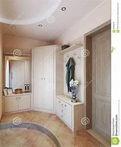 Coiffeuse Moderne Avec Miroir : couloir dans le style moderne avec des cintres une coiffeuse de miroir illustration stock ~ Farleysfitness.com Idées de Décoration