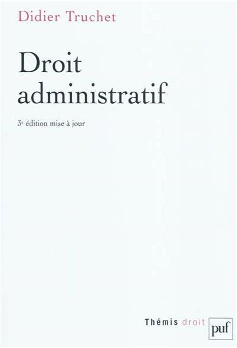 livre droit administratif didier truchet presses
