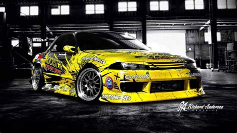 ra graphics joe kukutai drift car wrap design