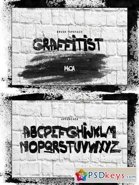 Download all these best realistic paint brush. GRAFFITIST- Brush Font 1499546 » Free Download Photoshop ...