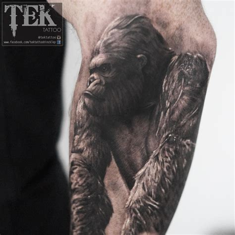 Silverback Gorilla Tattoo Designs