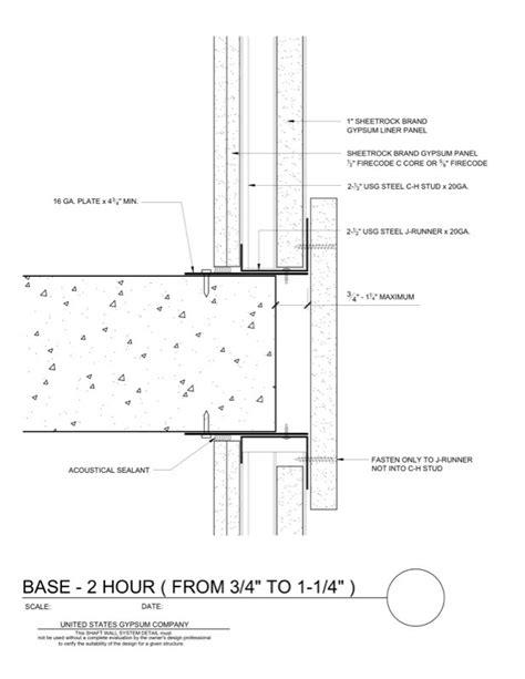 USG Design Studio | 09 21 16.23.162 Shaft Wall