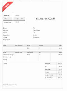 invoicing with wordpress by wp project manager and invoice With project management invoice template
