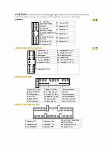 Daewoo Car Radio Stereo Audio Wiring Diagram