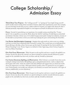 sample essay for scholarship letters