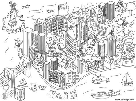 Kleurplaat Nyc by Coloriage New York Ville Usa Dessin 224 Imprimer