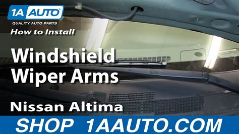 replace windshield wiper arms   nissan altima