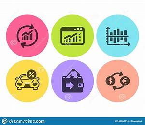 Diagram Chart  Car Leasing And Wallet Icons Set  Web