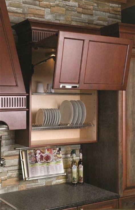 Kitchen Wall Cabinet Plate Holder Organizer Modern, Plate