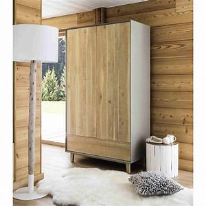 Dressing Maison Du Monde : dressing en ch ne vermont pas cher soldes armoire ~ Nature-et-papiers.com Idées de Décoration
