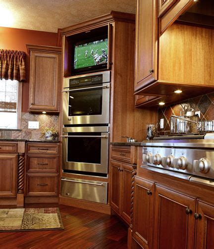 kitchen television ideas 1000 ideas about double oven kitchen on pinterest double ovens built in double ovens and