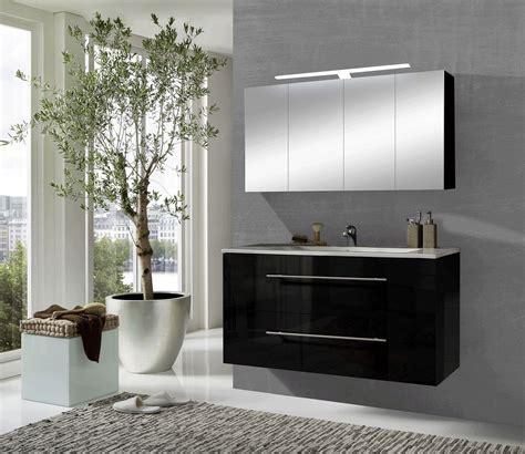 Badezimmer Spiegelschrank Schwarz by Sam 174 2tlg Badezimmer Spiegelschrank Schwarz 120 Cm Rom