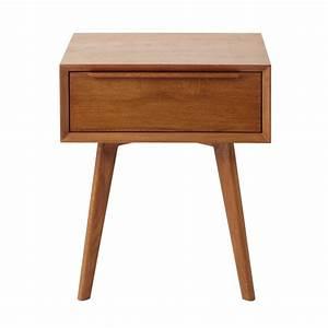 Table De Chevet Wengé : table de chevet vintage 1 tiroir en ch ne massif ~ Teatrodelosmanantiales.com Idées de Décoration