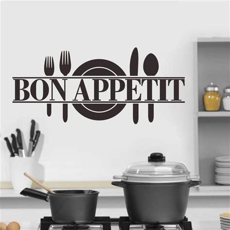 cuisine decorative bon appetit food wall stickers kitchen room decoration