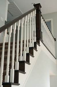 Railing, Spindles, and Newel Posts for Stairs on Pinterest