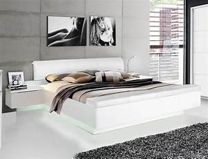Doppelbett 180x200 Weiß : doppelbett sophie 1 wei hochglanz 180x200 ehebett mit 2x nachtkonsole wohnbereiche schlafzimmer ~ Frokenaadalensverden.com Haus und Dekorationen