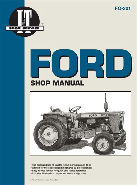 ford fordson gasoline diesel tractor service repair