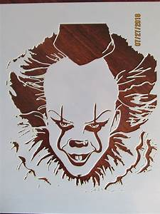 It, Pennywise, Evil, Clown, Stencil, Template, Reusable, 10, Mil, Mylar