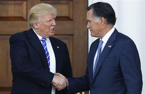 trump endorses romney  senate wsj