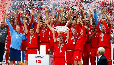 Bundesliga erstmals mit einer eigenen trophäe geehrt. Bayern Munich Bundesliga Champions - Mirror Online