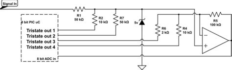 Microcontroller Auto Ranging Voltmeter Circuit With Pic