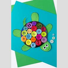 Colorful Cd & Button Turtle Craft For Kids