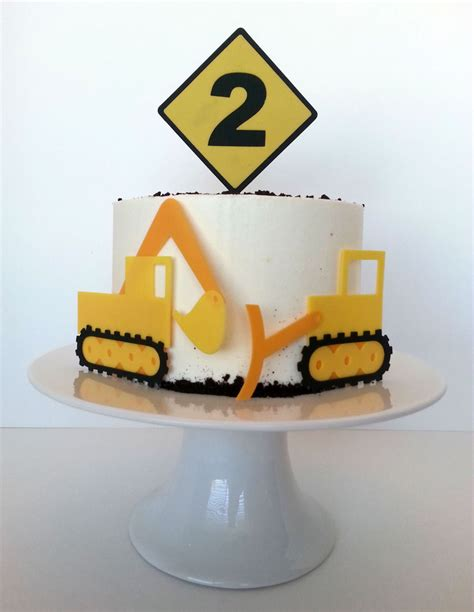 Construction Cake Decorations by Construction Equipment Birthday Cake Cakecentral