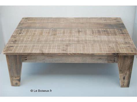 Table de salon en bois de palettes - Plateaux de table en bois recyclu00e9 sur mesure