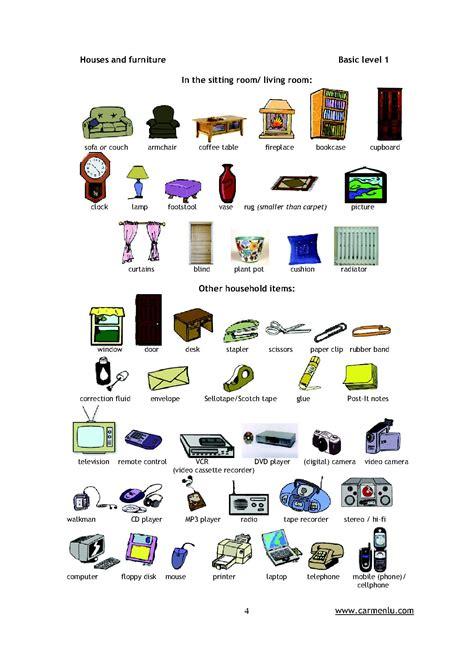 vocabulaire de la chambre pièces de la maison en anglais