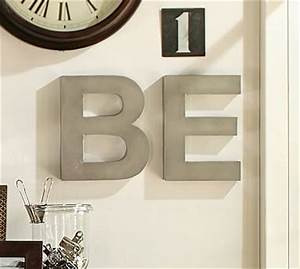 metal letters silver potterybarn i think i39ll make With metal wall letters michaels