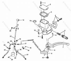 Polaris Atv 1999 Oem Parts Diagram For Controls Master Cylinder  Brake Line A99ch33ia