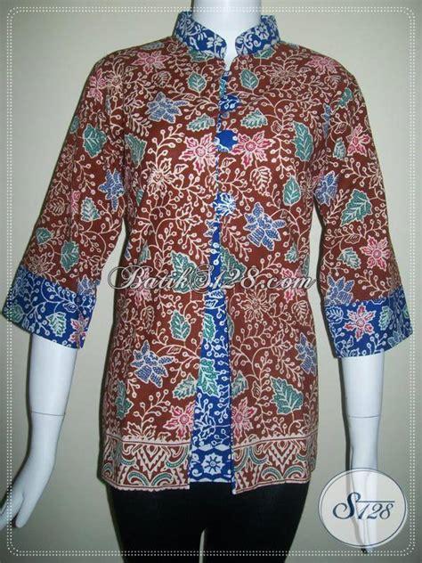 baju batik model terkini  busana batik kerja bls