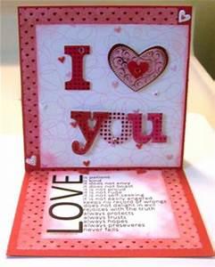 I love you Handmade Valentine Card