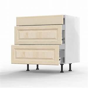 mon espace maison meuble bas cuisine pin massif brut With meuble 80 cm largeur