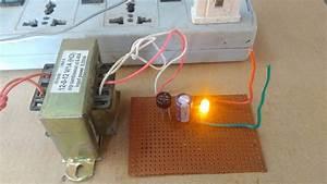 How To Make 12v 1a Dc Power Supply  230 Ac To 12v Dc Without Regulator