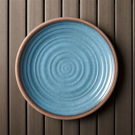 caprice blue  melamine plate crate  barrel