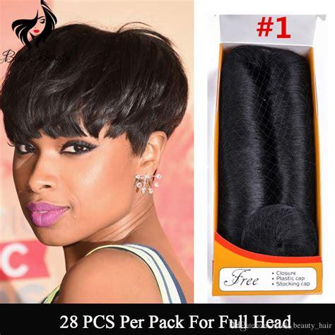 femi collection 100 human hair cheap hair weaving short