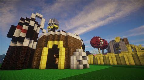 minecraft clash  clans village world  youtube