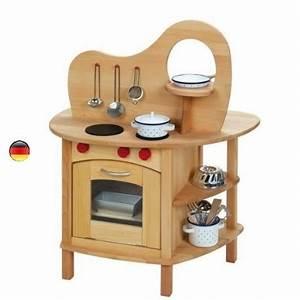 Cuisine Enfant En Bois : cuisine double avec four evier un jouet en bois massif gluckskafer ~ Teatrodelosmanantiales.com Idées de Décoration