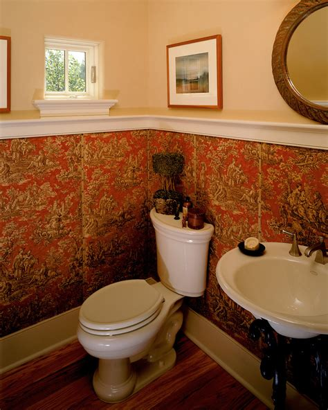 half bathroom ideas with pedestal sink chair rail molding dining room with brown