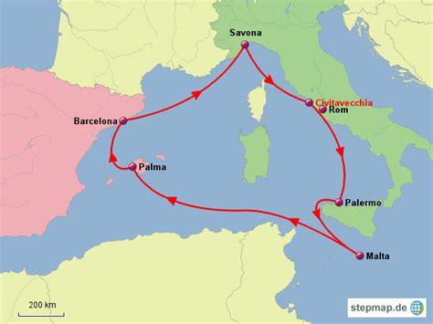 stepmap westliches mittelmeer landkarte fuer italien