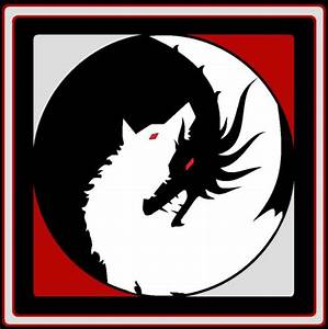 A Black Dragon and a White Dire Wolf! Hmmmm, what could it ...