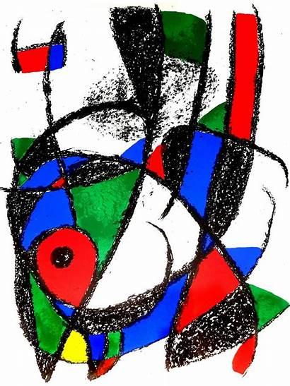 Miro Joan Abstract Lithograph Composition Prints 1976