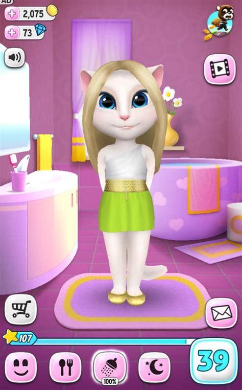 talking angela  pet game  talking angela